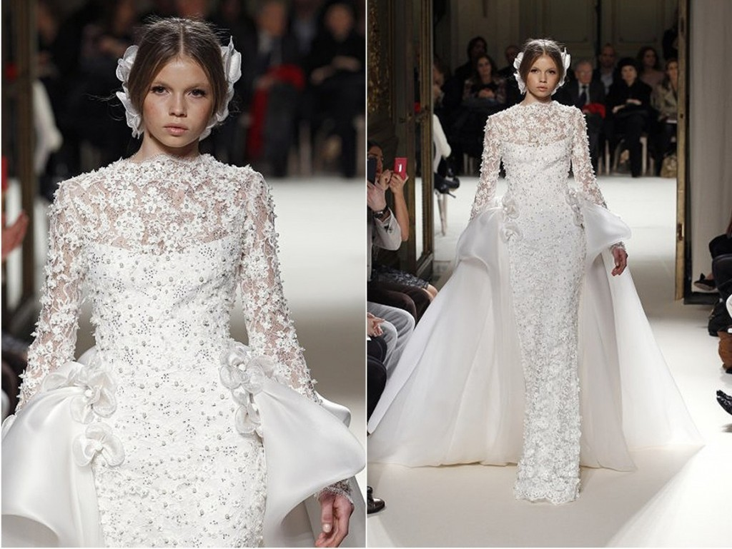 Get inspired with some of the wedding dresses from paris for Haute couture wedding dresses