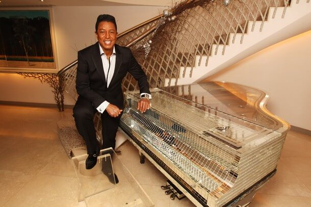 LONDON, ENGLAND - DECEMBER 12: Jermaine Jackson poses for a portrait after getting fitted for a suit by Saville Row tailor Gary Anderson at The Dorchester Hotel on December 12, 2011 in London, United Kingdom. (Photo by Dave J Hogan/Getty Images)
