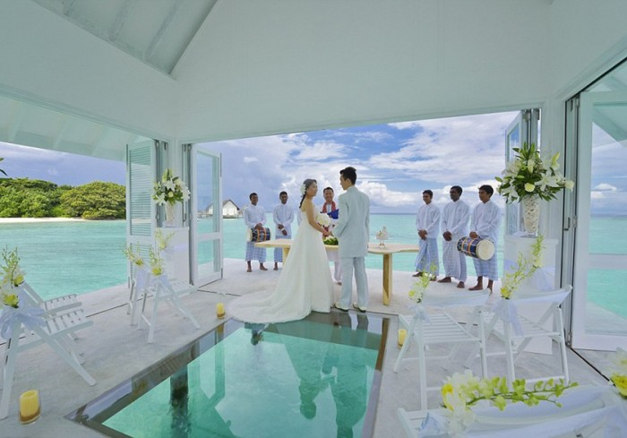 exotic wedding chapel Indian Ocean