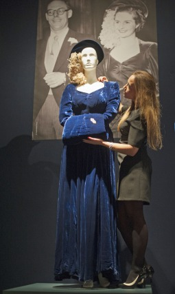 Margaret Thatchers Blue Velvet Wedding Dress Full Length Mayfair Luxury Weddings