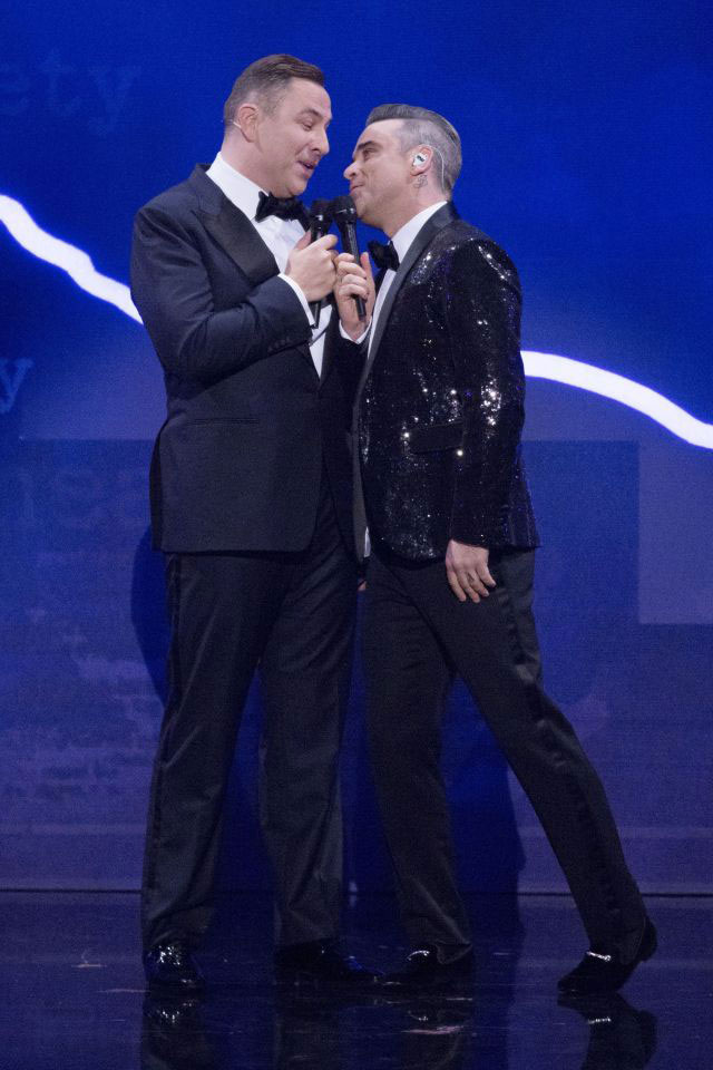 David Walliams and Robbie Williams Singing - Royal Variety Performance 2016 - The Sun - Grace Kennedy Events