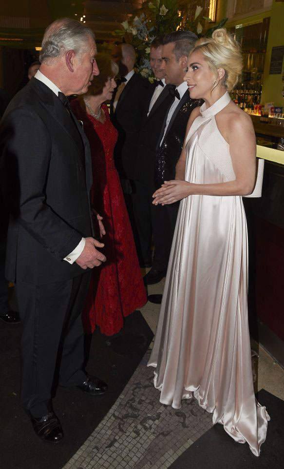 Prince Charles and Lady Gaga - Royal Variety Performance 2016 - The Sun - Grace Kennedy Events