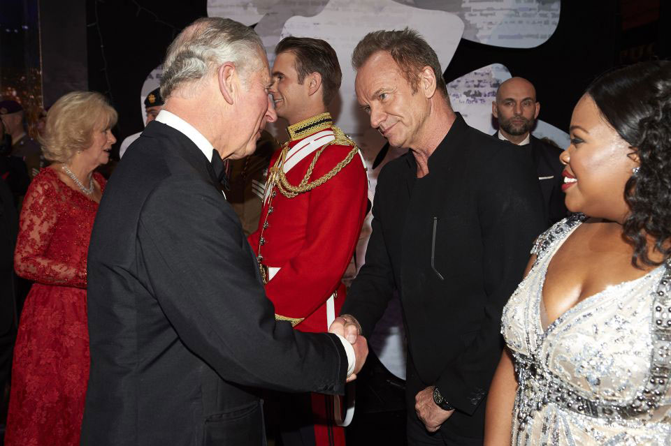 Prince Charles and Sting - Royal Variety Performance 2016 - The Sun - Grace Kennedy Events