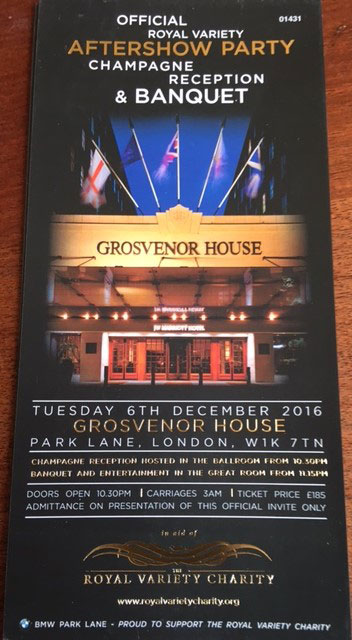 Royal Variety Performance 2016 - Grace Kennedy Events - After Show Party - Grosvenor House Hotel