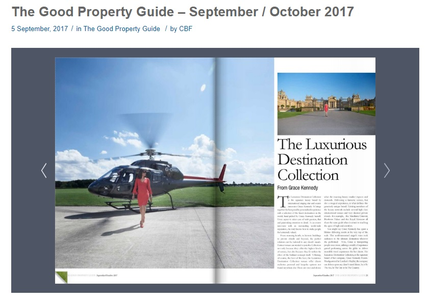 Good Property Guide Article - The Luxurious Destination Collection